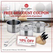 FREE Discount Coupon with Carl Schmidt Sohn!