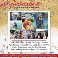 Congratulations, Fun Summer Selfie Winners!